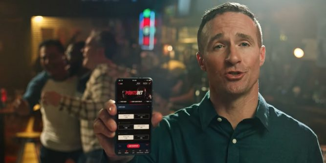 NFL icon Drew Brees has debuted in the first of three new ad spots for PointsBet